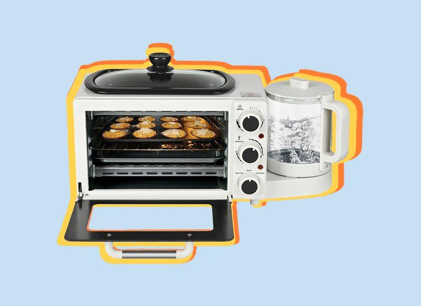 Мини-печь со сковородкой, чайником и яйцеваркой