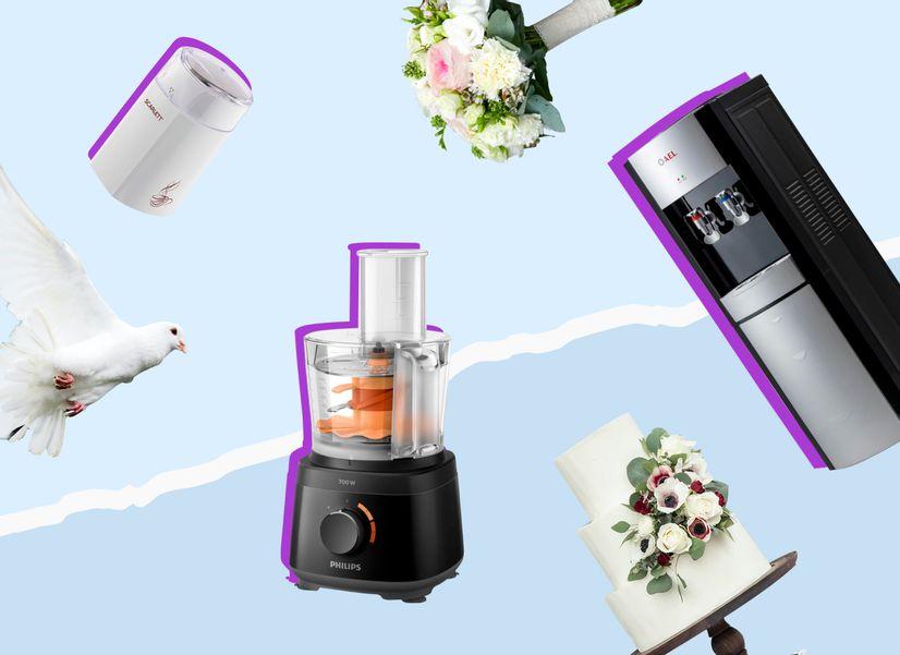 От блендера до кулера: какую технику дарят на свадьбу