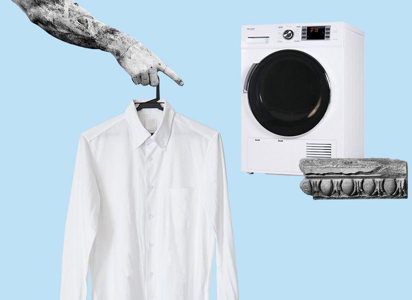 Правда, что после сушильной машины одежду сложно гладить?
